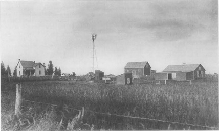 A dairy farm at the turn of the century in North Dakota, illustrating the isolation forced upon wives whose sole domain was the home.