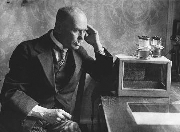 Sir Ronald Ross (18571932) the British physician who discovered the malaria parasite, at work in his laboratory.