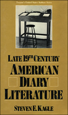 Late Nineteenth-Century American Diary Literature, ed. , v.