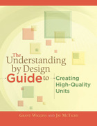 The Understanding by Design Guide to Creating High-Quality Units, ed. , v.