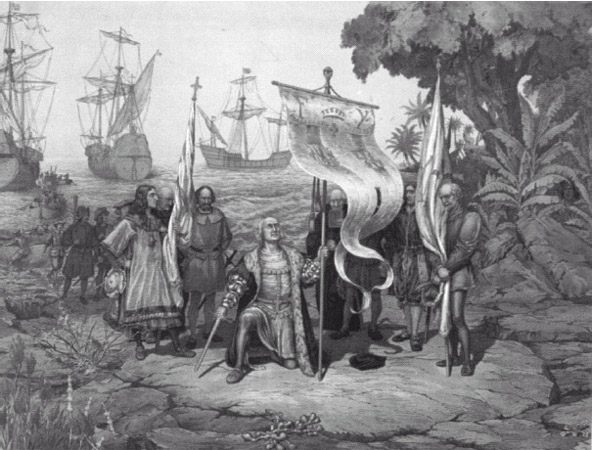 Christopher Columbus landed on the island he named San Salvador in 1492, thinking that he was somewhere in the Indies when he was actually in an area of the present-day Bahamas