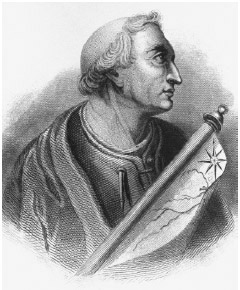 Italian navigator Amerigo de Vespucci led a Spanish-sponsored expedition that first discovered the mainland of the American continents