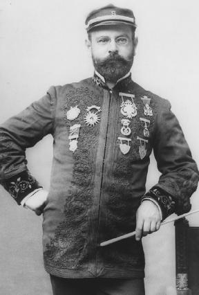"""The """"March King,"""" German-Portuguese American John Philip Sousa (1854–1932), composer of """"Stars and Stripes Forever."""" Courtesy of the Library of Congress."""