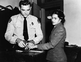 Rosa Parkss refusal to give up her bus seat to a white man on December 1, 1955, sparked the 11-month long Montgomery Bus Boycott.