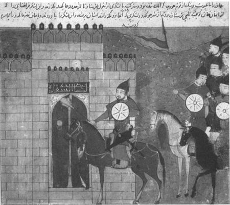Illumination of the Mongol army besieging Cheng-tu, circa thirteenth century
