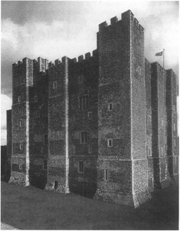 The keep at Dover Castle, built by Henry II of England