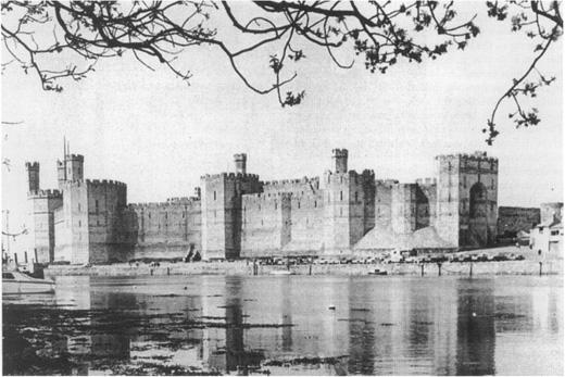 Caernarvon Castle in Wales,