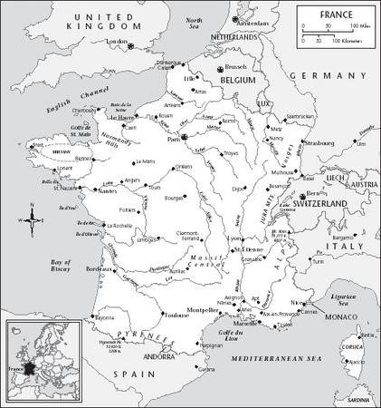 LOCATION: 4220 to 515 N; 447 W to 815 E. BOUNDARY LENGTHS: Belgium, 620 kilometers (387 miles); Luxembourg, 73 kilometers (45 miles); Germany, 451 kilometers (280 miles); Switzerland, 573 kilometers (358 miles); Italy, 488 kilometers (305 miles