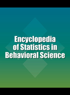 Encyclopedia of Statistics in Behavioral Science, ed. , v.