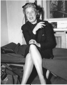 """Mildred Gillars, also known as """"Axis Sally,"""" was convicted of treason for hosting an anti-Allied radio show broadcast from Germany during the war. (Reproduced by permission of AP/Wide World Photos)"""
