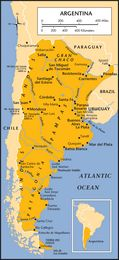 The Map of Argentina