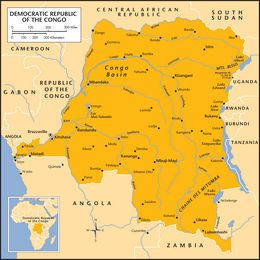The Map of Congo (DROC)