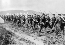 Canadian troops during World War I