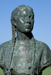 Sacagawea Sculpture in Oklahoma's Indian Hall of Fame