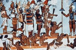 Wall Painting Depicting the Judgment of Mayan Captives