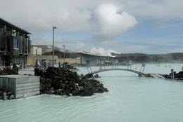 Liquid run-off from one of Iceland's geothermal power plants
