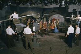 On the Set of America's First Color Television Program