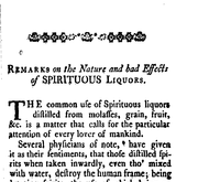 Document Preview Image for Remarks on the nature and bad effects of spirituous liquors
