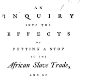 Document Preview Image for An inquiry into the effects of putting a stop to the African slave trade, And of Granting Liberty to the Slaves in the British Sugar Colonies. By the Author of The Essay on the Treatment and Conversion of African Slaves in the British Sugar Colonies