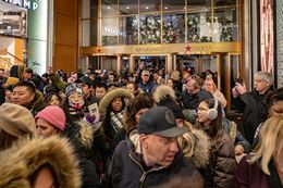 Macy's Shoppers in NYC Flock to the Flagship Store on Thanksgiving Day
