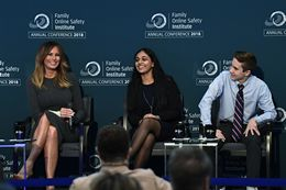 Melania Trump Takes Part in the Family Online Safety Institute's Conference in Washington, D.C.