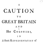 Document Preview Image for A caution to Great Britain and her colonies, in a short representation of the calamitous state of the enslaved negroes in the British dominions