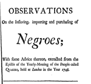 Document Preview Image for Observations on the inslaving, importing and purchasing of Negroes- 2d ed.