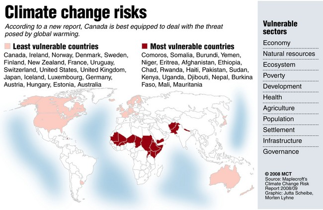 African Nations Most Vulnerable to Climate Change