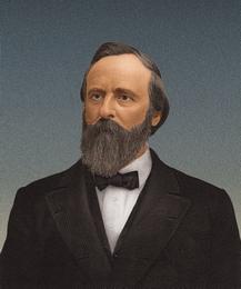 U.S. President Rutherford B. Hayes (1822-1893)