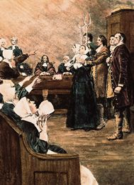 Scene from the Salem Witch Trials