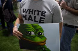 Pepe The Frog At Donald Trump Rally In Bedford, New Hampshire