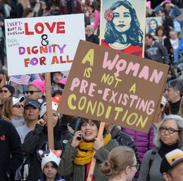 Massive Los Angeles Crowd Rallies In Solidarity With Women's March In Washington