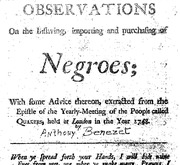 Document Preview Image for Observations on the inslaving, importing, and purchasing of Negroes : with some advice thereon, extracted from the Epistle of the yearly-meeting of the people called Quakers, held at London in the year 1748