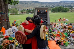Memorial at Indigenous Residential School
