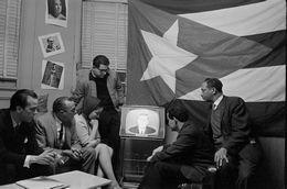 Cuban Americans Watch President John F. Kennedy on TV