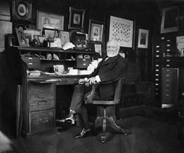 Andrew Carnegie in His Office