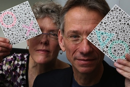 University of Washington Researchers with Color Perception Testing Cards