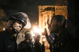 Protester Confronts Officer after Grand Jury Decision in Eric Garner Case