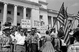 Segregationists in 1959 Protest Admission of Little Rock Nine to Central High School in 1957