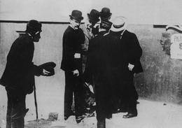 Wealthy Industrialist John D. Rockefeller Ignoring Request from Beggar