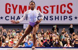Simone Biles competes at U.S. Gymnastics Championships