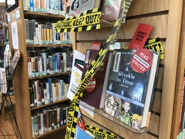 Banned Books Display at Guantanamo Public Library