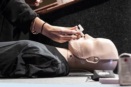 A Demonstration During a Training Session on How to Use Narcan