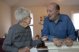 Alzheimer's disease - Elderly couple