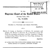 Document Preview Image for Frontiero v. Richardson, 411 U.S. 677 (1973). Reply Brief (on Petition)
