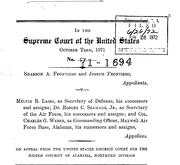 Document Preview Image for Frontiero v. Richardson, 411 U.S. 677 (1973). Jurisdictional Statement
