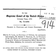 Document Preview Image for Frontiero v. Richardson, 411 U.S. 677 (1973). Amicus Brief