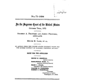 Document Preview Image for Frontiero v. Richardson, 411 U.S. 677 (1973). Appellee's Brief