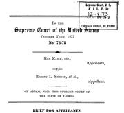 Document Preview Image for Kahn v. Shevin, 416 U.S. 351 (1974). Appellant's Brief