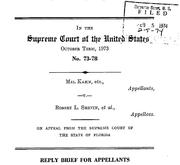 Document Preview Image for Kahn v. Shevin, 416 U.S. 351 (1974). Reply Brief